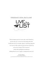 Live the List